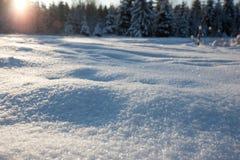 Snow field Royalty Free Stock Photos