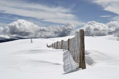 Snow Field Under Blue Sky during Daytime Stock Photography