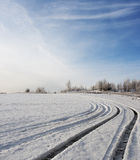 Snow field Stock Image