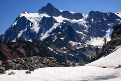 Snow fields Glaciers Mount Shuksan Washington Stock Image