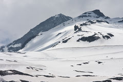 Snow fields of the Hintertux Glacier, Austria Royalty Free Stock Images