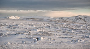Snow fields of Iceland Royalty Free Stock Images