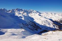 Snow fields in Serre Chevalier. Ski resort, France Stock Photo