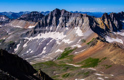 Snow Fields in the Upper San Juan Mountains Stock Images