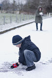 Snow fight Royalty Free Stock Photography