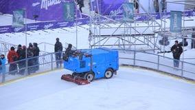Snow-fighting vehicle stock footage