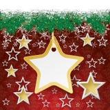 Snow Fir Twigs Bokeh Golden Star Sticker Stock Photos