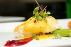 Snow Fish Steak with Orange Sauce Stock Image