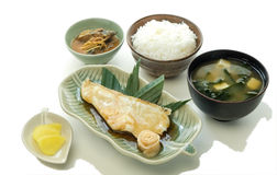 Snow Fish Teriyaki Set Royalty Free Stock Photo