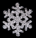 Snow flake. A snow flake on a background Stock Photos