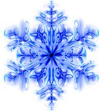 Snow flake. Nice blue snow flake isolated on the white background Royalty Free Stock Photo