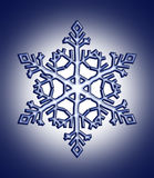 Snow flake. Single snow flake geometrical created with computer Stock Photos