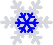 Snow Flake. Blue and gray snow flake Royalty Free Stock Photos