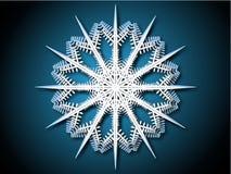 Snow flake. Elegant snow flake on a blue background Stock Image