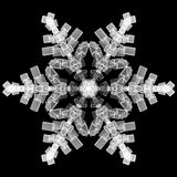Snow Flake. 3D Render isolated Royalty Free Stock Images