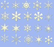 Snow flake. Snow flake on blue background Royalty Free Stock Photo