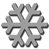 SNOW FLAKE. Illustration - Web Design - Logo - Sign Stock Image