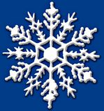 Snow flake. Beautifully detailed large detailed snow flake royalty free illustration