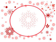 Snow flake. A background illustrating snow flake falling in a white background vector illustration