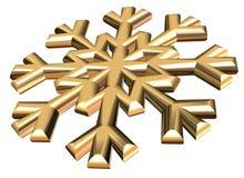 Snow flake. 3D snow flake illustration Royalty Free Stock Image