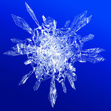 Snow flake. On a blue background stock illustration