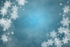 Snow flake background Stock Photos
