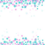 Snow flake background vector Royalty Free Stock Photo