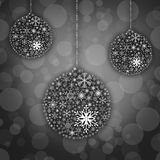 Snow flake ball background Royalty Free Stock Photo