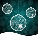 Snow flake ball background Stock Photography
