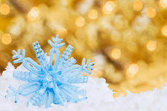 Snow Flake with Bokeh. Royalty Free Stock Photography