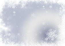 Snow flake christmas background Stock Images
