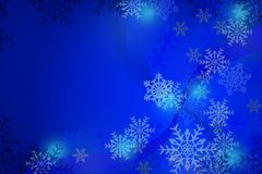 Snow Christmas blue abstract background. Snow flake Christmas blue abstract background Royalty Free Stock Photo