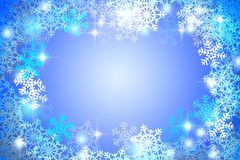 Snow Christmas blue abstract background. Snow flake Christmas blue abstract background Stock Image