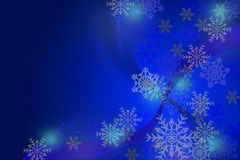Snow Christmas blue abstract background. Snow flake Christmas blue abstract background Stock Images