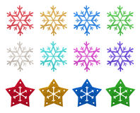 Snow flake Christmas ornaments Stock Photography
