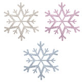 Snow flake Christmas ornaments Stock Photos