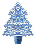 Snow flake Christmas tree. A decorative illustration of a 3d snow flake Christmas tree Royalty Free Stock Photography