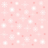 Snow Flake Collection. Collection of snowflake shapes on a pink background Vector Illustration