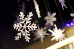 Snow flake cystals Stock Photography