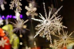 Snow flake cystals Stock Photo