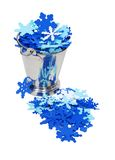 Snow flake filled ice bucket Stock Image