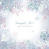 Snow flake frame. This graphic is snow flake frame Stock Photo