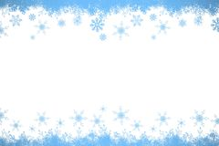 Snow flake frame in blue Royalty Free Stock Photos