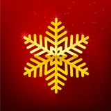 Snow flake with glittering over dark red background 002 royalty free illustration