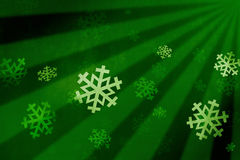 Snow flake green Stock Image