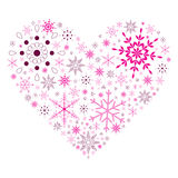 Snow Flake Heart Stock Photo