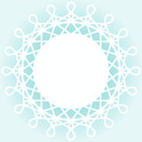 Snow Flake Ice border frame. Round frame with snowflake spikes border Royalty Free Stock Images