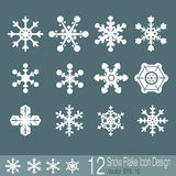 Snow flake icons. Of design stock illustration