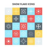 Snow Flake Icons. For web design and application interface, also useful for infographics. Vector illustration vector illustration