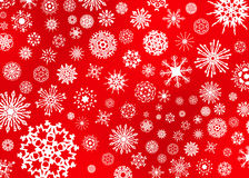 Snow Flake Illustration on Red Royalty Free Stock Photography